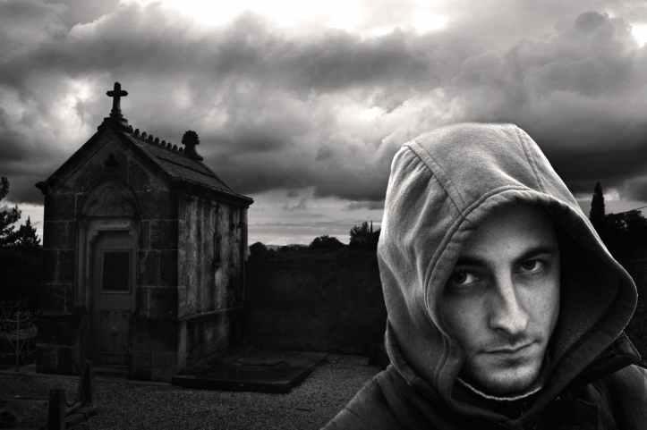 man dark portrait terror