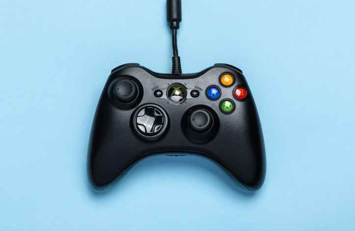 black microsoft xbox game controller