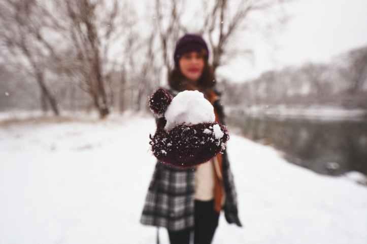 arbres arriere plan flou blanc boule de neige