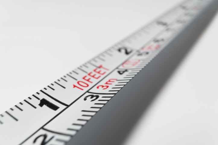 balance centimetres chiffres distance