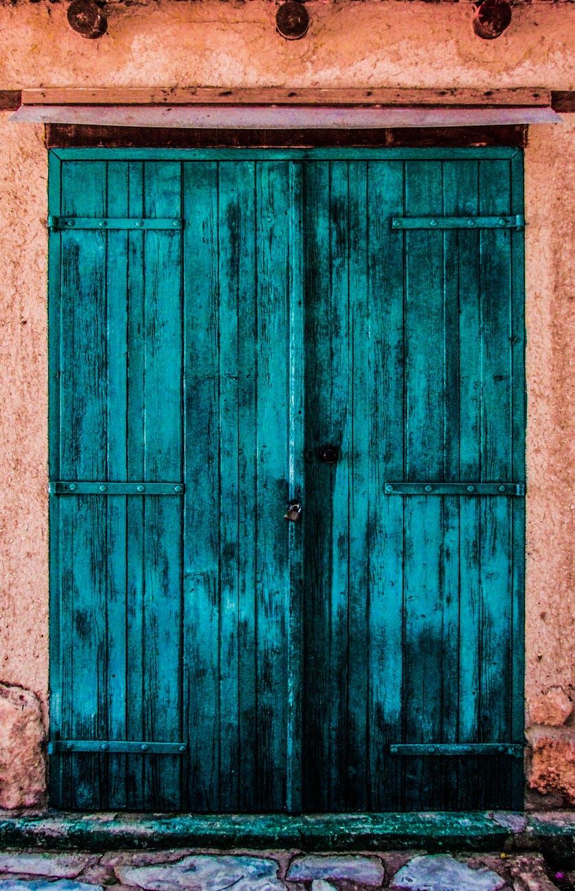 abandonne architecture bois colore