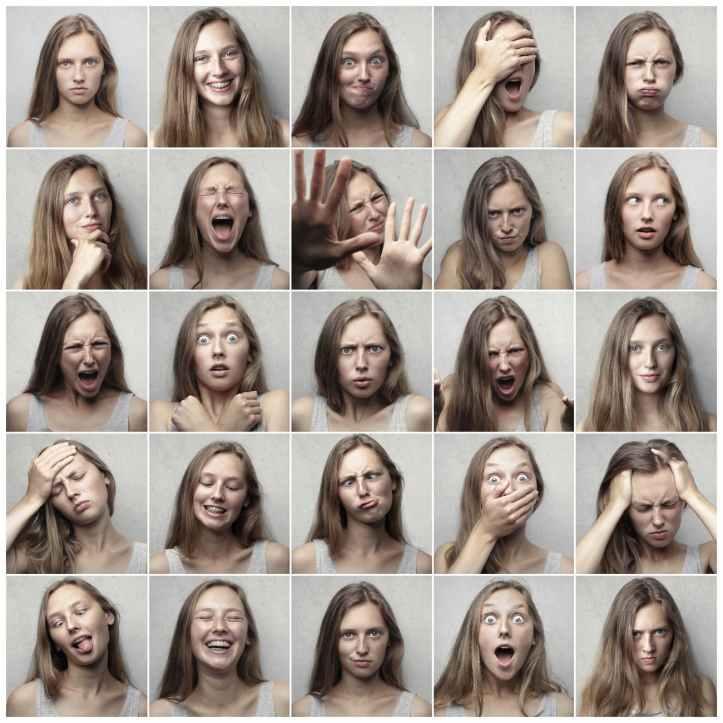 collage photo de femme